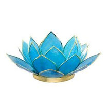 Lotus Tea Light Holder - Turquoise