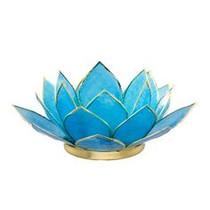 Lotus Tea Light Holder - Turquoise