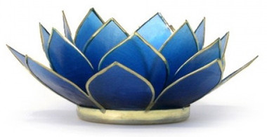 Lotus Tea Light Holder - Sapphire - Wisdom