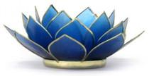 Lotus Tea Light Holder - Sapphire - Wisdom