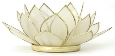 Lotus Tea Light Holder - Pearl - Health