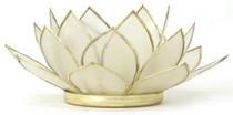 Lotus Tea Light Holder - Pearl - Health