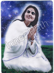 "Anandamayi Ma Photo - In the Stars - 4"" Magnet"