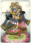 "Krishna Picture - Radha and Krishna - 4"" Card"