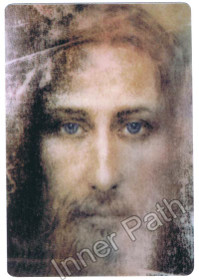 "Jesus Christ Picture - Shroud of Turin - 4"" Magnet"