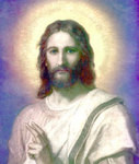 "Jesus Christ Picture - Aura of Gold - 4"" Card"