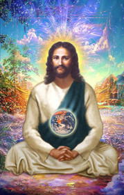 Jesus Christ Picture - Meditating in the Astral World - Wallet Altar