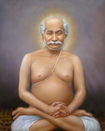 Lahiri Mahasaya Picture - Lotus Pose - Magnet