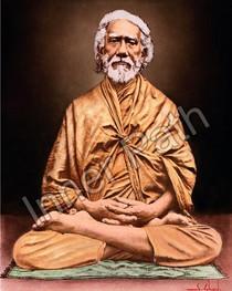 Swami Sri Yukteswar Picture - In Lotus Asana Color - 8x10