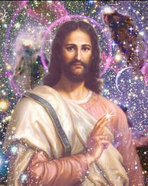Jesus Christ Picture - Cosmic Christ - Wallet Altar