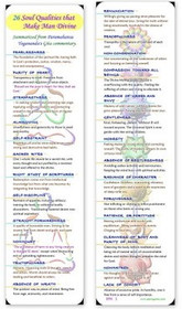 26 Soul Qualities Bookmark