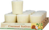 Coconut Votive Candles - Fragrance Free