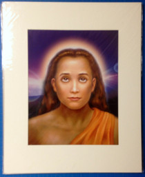 Mahavatar Babaji Portrait Purple Background Art Print - 11 x 14