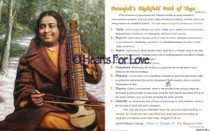 """This uplifting picture of Paramhansa Yogananda playing an esraj is available as a painting reprinted onto a glossy, high resolution art card. This art card is double-sided!  The reverse side of the card explains Patanjali's Eightfold Path of Yoga.This devotional 8"""" x 10"""" Art Card is suitable for wall, desk, or altar.These high resolution art cards are of a similar quality to a standard photograph, but because they are printed on card stock, they are significantly more affordable. They fit a standard frame. Because they are printed on heavy postcard stock, the art cards can stand rigid on your altar or display shelf."""