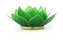Lotus Tea Light Holder - Jade