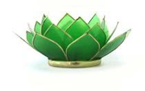 Lotus Tea Light Holder - Peridot