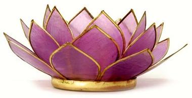 Lotus Tea Light Holder - Amethyst
