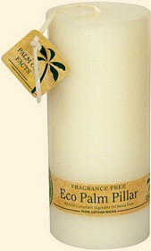 White Eco Palm Wax Pillar Candle