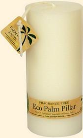 White Eco Palm Wax Pillar Candle