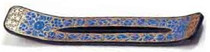 Painted Blue Corn Flowers Incense Stand