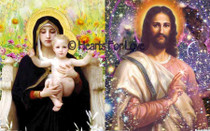Cosmic Christ/Mother Mary and Child High Resolution Art Card - 8x10