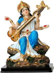 Statue - Saraswati with Vina