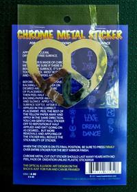 Peaceful Heart Chrome Metal Sticker