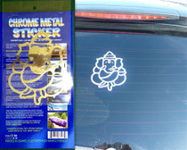Ganesh Chrome Metal Sticker