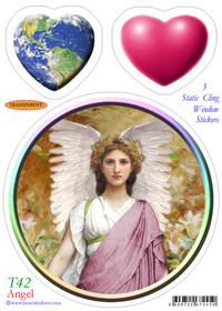 Static Cling Sticker - Angel