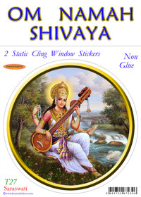 Static Cling Sticker - Saraswati