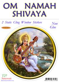 Static Cling Sticker - Saraswati
