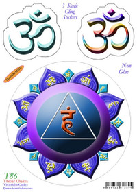 Static Cling Sticker - Throat Chakra