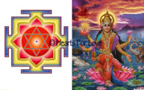 Lakshmi Yantra/Goddess Lakshmi High Resolution Art Card 8 x 10