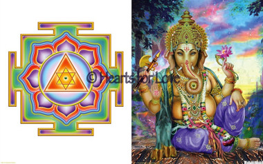 ganesh yantra lord ganesha high resolution art card 8 x 10