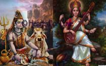 Shiva/Saraswati High Resolution Art Card 8 x 10