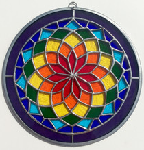 Starburst Mandala Stained Glass - 8""