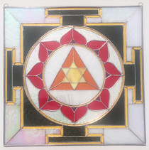 Stained Glass Ganesh Yantra