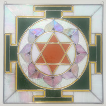 Stained Glass Lakshmi Yantra