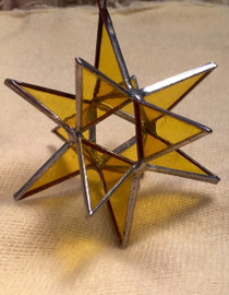 Merkabah Star Stained Glass-  Yellow