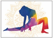 Yoga 1 - Greeting Card