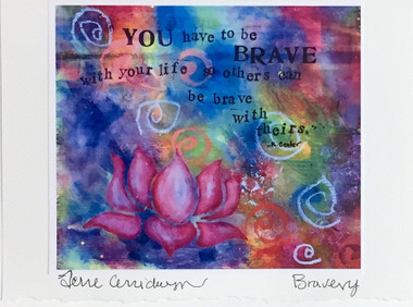 Brave - Greeting Card