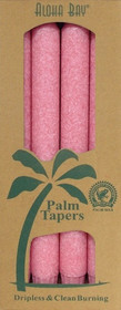 pink palm wax taper candles
