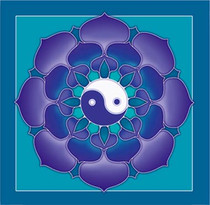 Yin Yang Lotus Wall Hanging