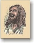 Jesus Christ - Jesus Laughing - 3 1/2 x 5