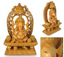 "Artisan Crafted Religious Wood Sculpture ""Ganesha's Blessing"""