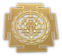Gold Plated Shree Yantra (18K) - Greeting Card