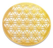 Gold Plated Flower of Life (18K) - Greeting Card