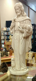 "Statue - Jesus with Lamb 23"" - White"