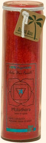 Chakra Jar Unscented Candle - Muladhara (Red)