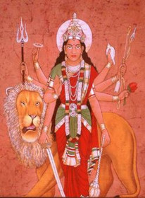 Durga - The Fierce Aspect of Shakti - Tall Jar Candle